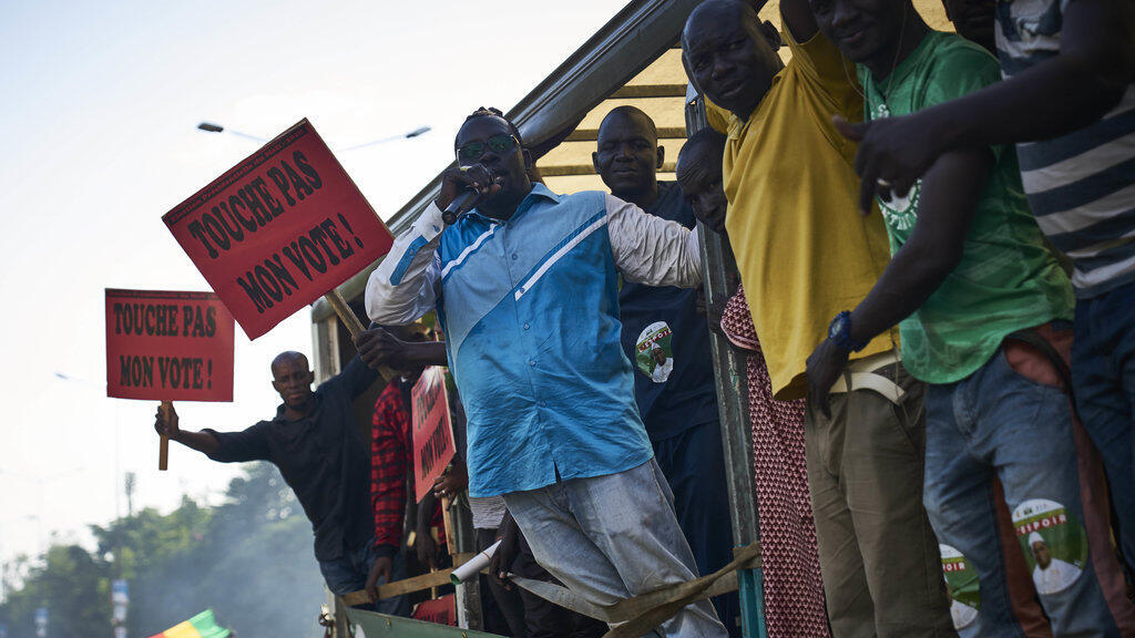 Une précédente manifestation contre la réélection d'IBK, le 16 août 2018 à Bamako.