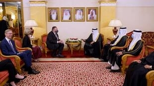 US Secretary of State Mike Pompeo met with Bahrain Foreign Minister Abdullatif bin Rashid Al-Zayani on his arrival in the capital Manama late Tuesday