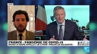 """2020-04-03 09:10 Cornavirus : Bruno Le maire appelle l'Union européenne à faire """"preuve de solidarité"""""""