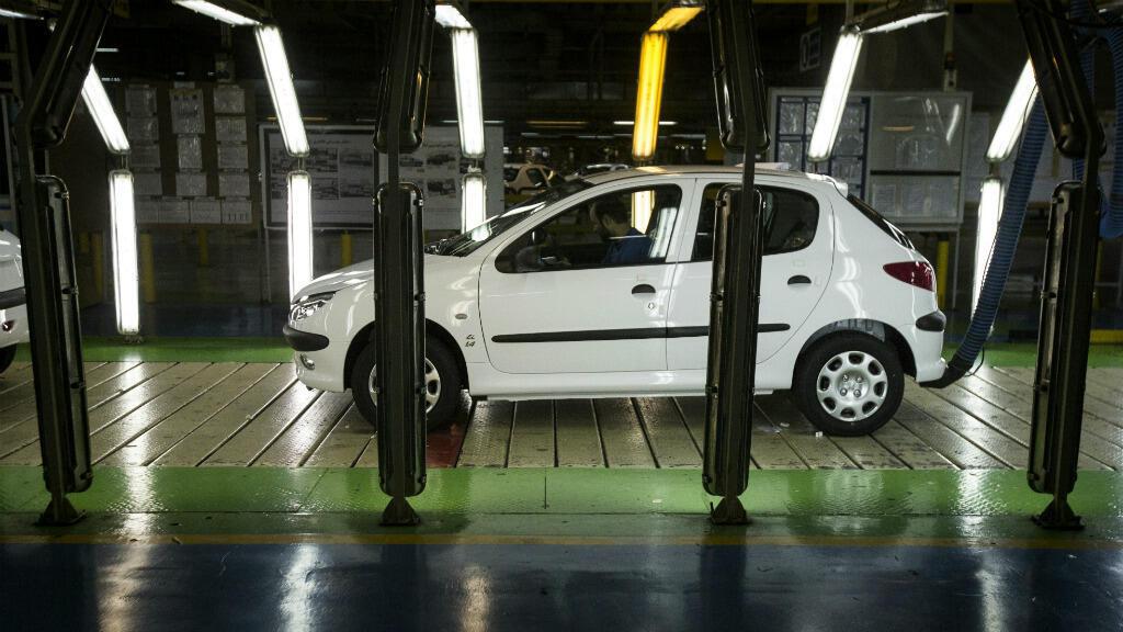 La Peugeot 206 est un des modèles de PSA parmi les plus vendus en Iran.