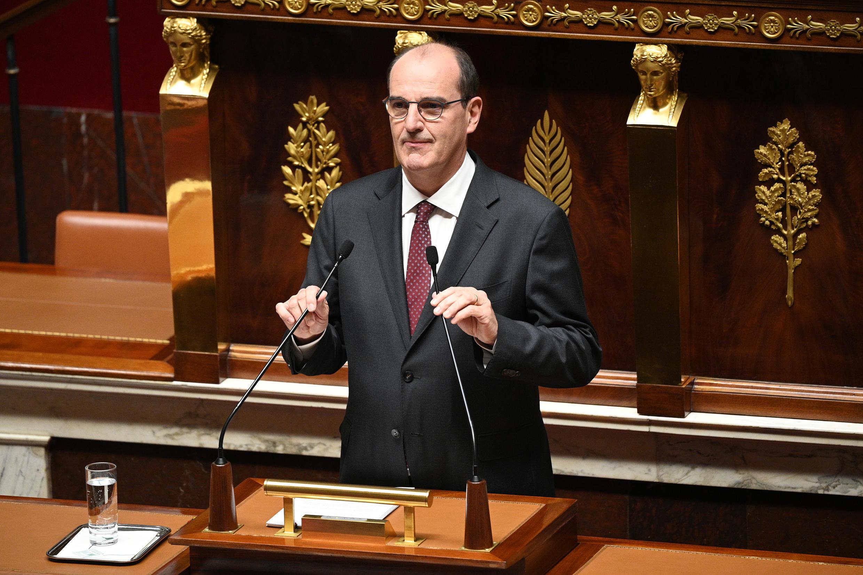 Le Premier ministre Jean Castex, le 15 juillet 2020, à l'Assemblée nationale, lors de son discours de politique générale.