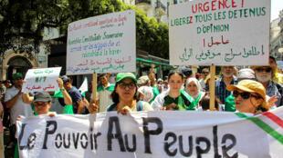 De nouvelles manifestations sont prévues vendredi 26juillet. Ici, à Alger, le 19juillet2019.