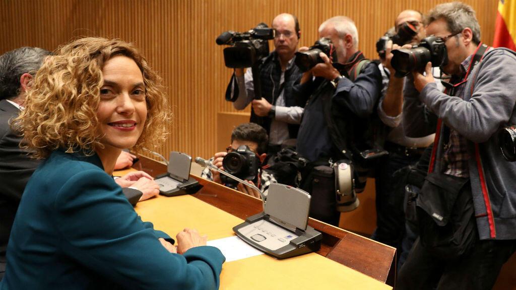 Meritxell Batet, el 21 de mayo de 2019, previo a la primera sesión del Parlamento después de una elección general en Madrid, España.