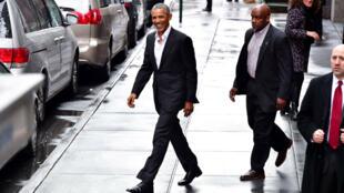 Barack Obama à New York en mars 2017.