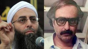 Le cheikh Ahmad al-Assir, en septembre 2012, à gauche, et lors de son arrestation le 15 août 2015, à droite.
