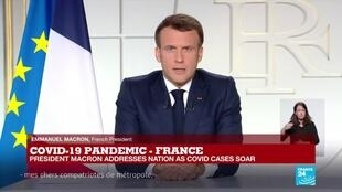2021-03-31 20:09 Coronavirus pandemic in France: Macron extends limited lockdown to all of France for 4 weeks