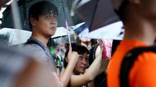 Manifestantes marchan para exigir democracia y reformas políticas, en Hong Kong, el 18 de agosto de 2019.