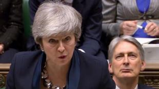 La Première ministre Theresa May s'est exprimée mardi 26 février à la Chambre des communes sur les différents scénarios pour le Brexit.
