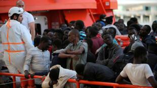 Cerca de 800 migrantes fueron rescatados cuando intentaban llegar a territorio español. Málaga, España. 23 de junio de 2018.