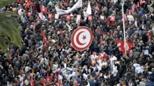 إضراب عام للموظفين العموميين في تونس. 22 نوفمبر/تشرين الثاني 2018.