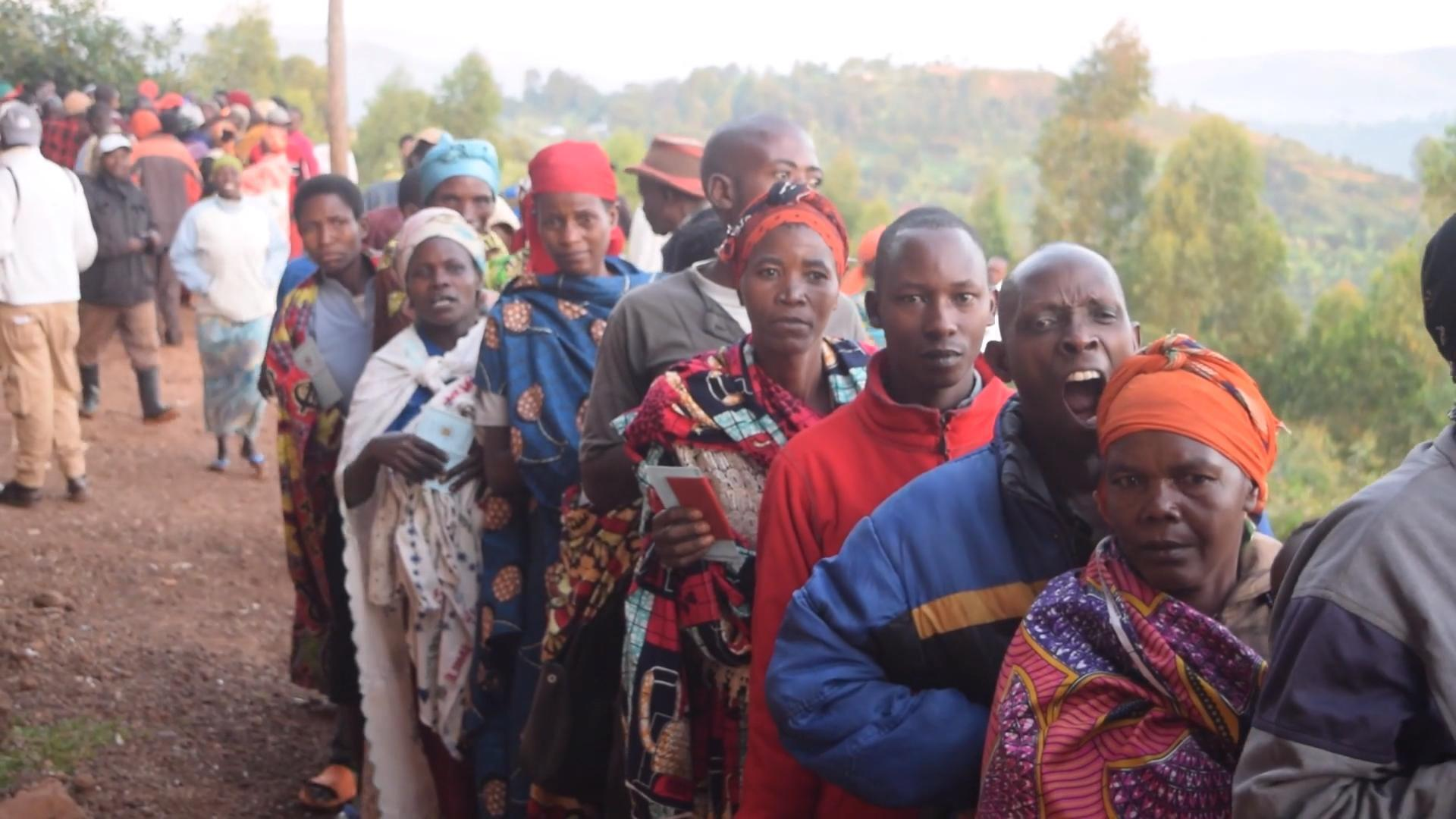 Jour de vote au Burundi.