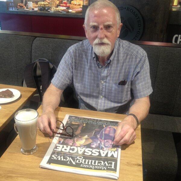 """Patrick, 67 ans, dit avoir été """"déprimé"""" toute la journée, mais refuse de se laisser abattre."""