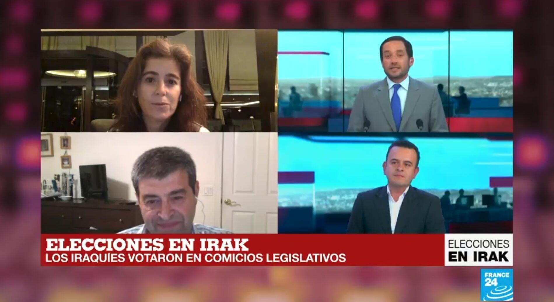 Santiago Aristía expuso el desarrollo de las elecciones iraquíes del 12 de mayo, en un programa especial de France 24.