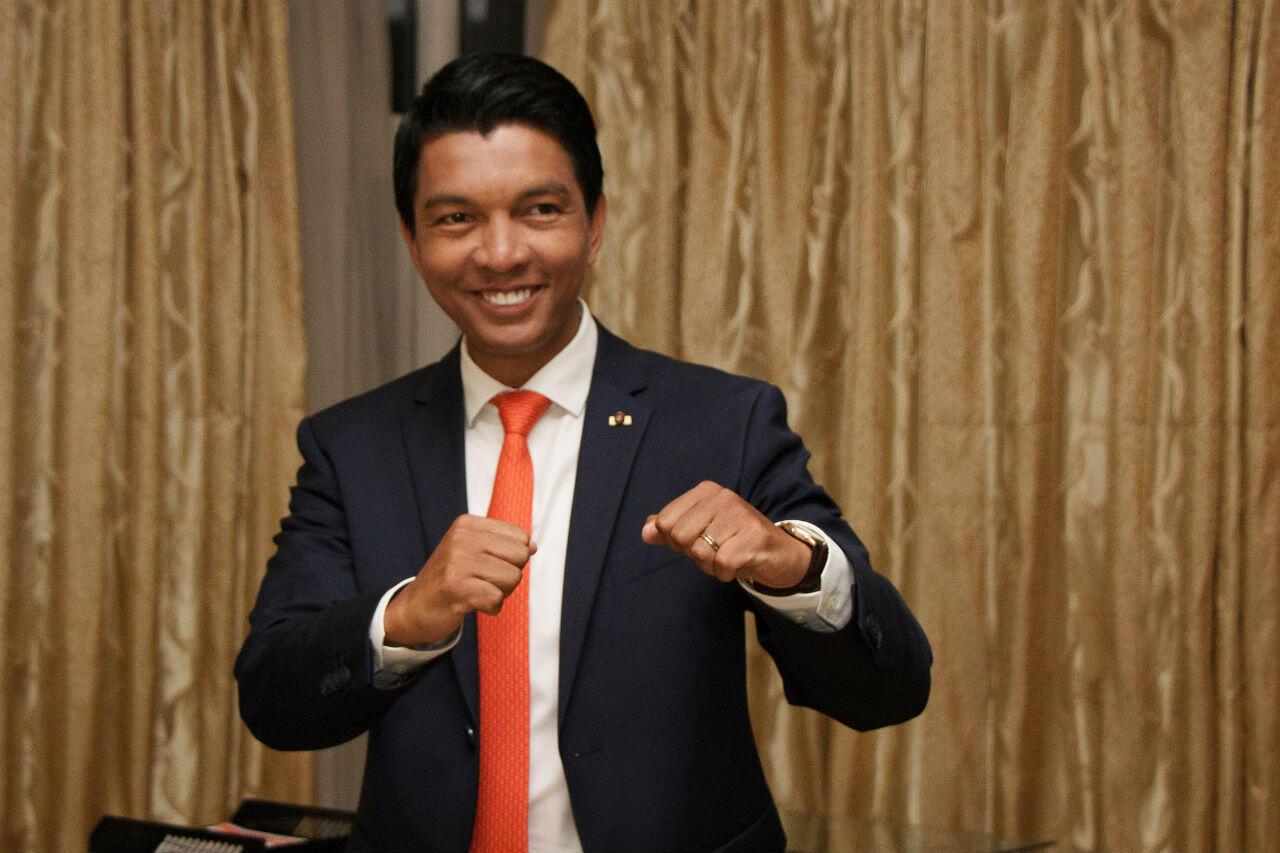 Le candidat à la présidentielle malgache Andry Rajoelina, le 9 décembre 2018.
