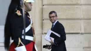Le secrétaire général de la présidence de la République, Alexis Kohler, le 19 octobre 2017, arrive à l'Élysée.