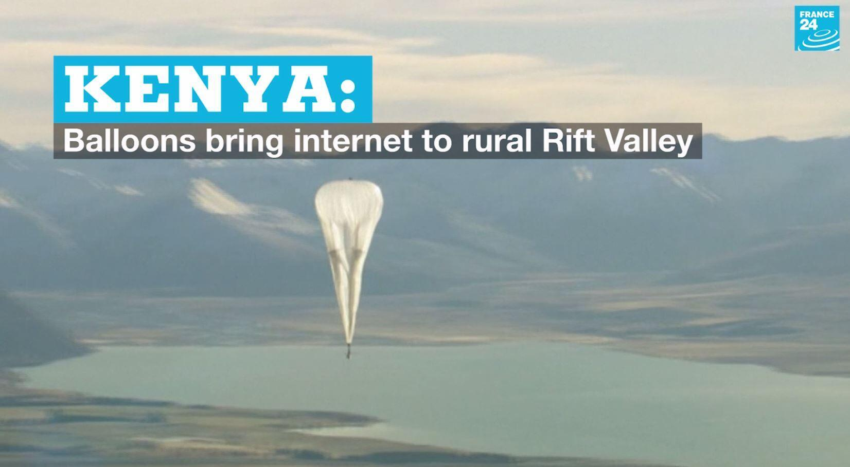 A Loon internet balloon being tested at an unknown location.