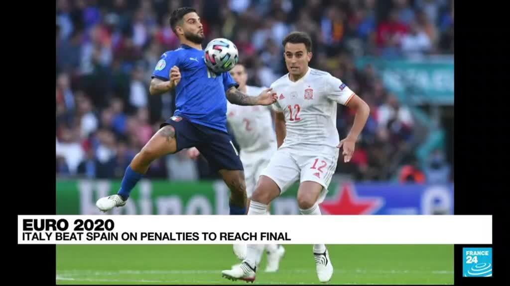 2021-07-07 00:01 Euro 2021: Italy beat Spain on penalties to reach final
