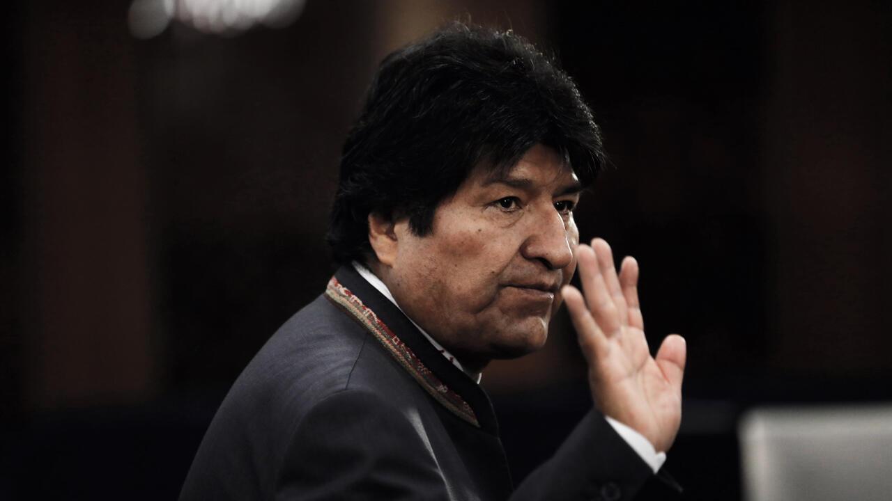 Archivo: Evo Morales, presidente de Bolivia, llega a la Cumbre de Acción Climática 2019 que se celebra antes del Debate General de la Asamblea General de las Naciones Unidas en la Sede de las Naciones Unidas en Nueva York, Nueva York, EE. UU., 23 de septiembre de 2019.