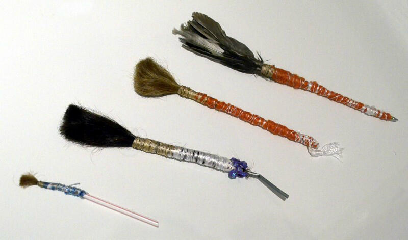 Zehra Dogan made paintbrushes from the hair of her fellow inmates and the feathers of birds who nested in the barbed wire.