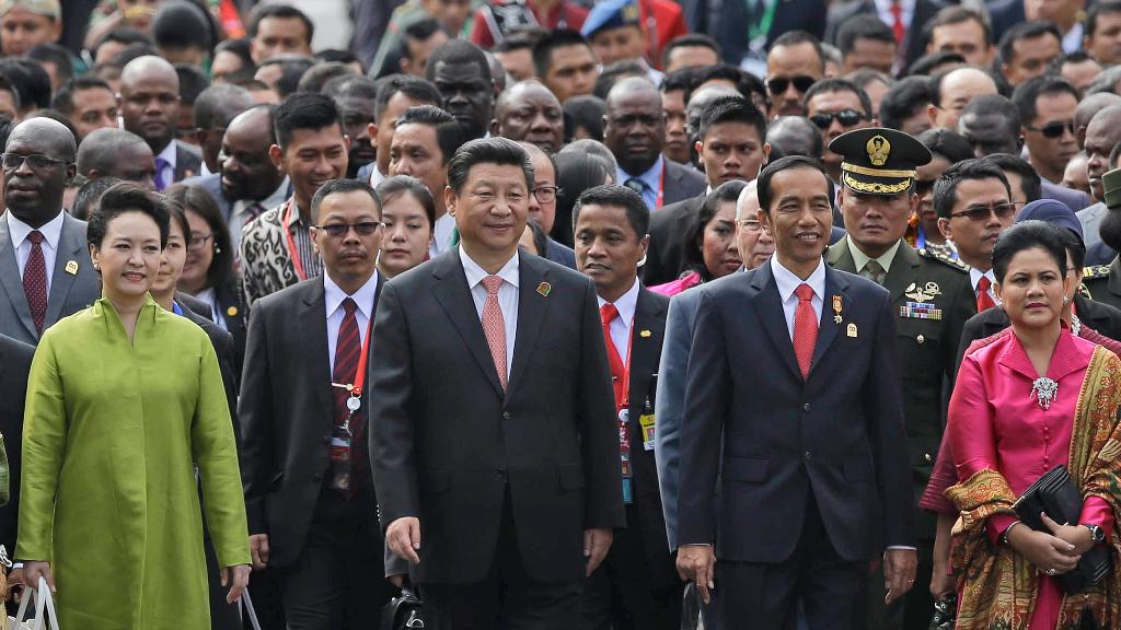 Imagen del 60 aniversario de la Conferencia de Bandung, donde se volvieron a reunir líderes asiáticos y africanos.