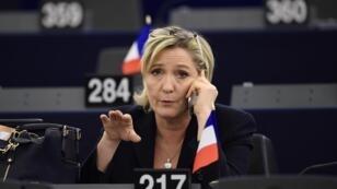 Marine Le Pen était interrogée par une journaliste américaine de CNN, mercredi 1er février.