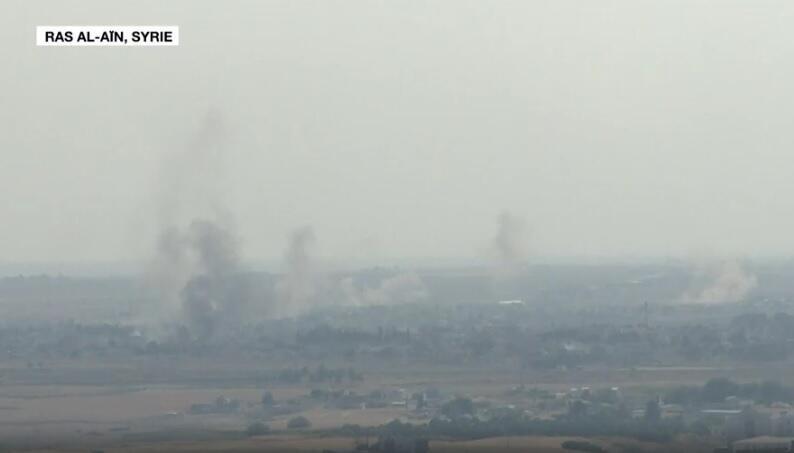 La ville de Ras al-Aïn, dans le nord de la Syrie, le 17 octobre 2019.