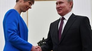 Estonian President Kersti Kaljulaid has drawn criticism for paying a visit to Russian counterpart Vladimir Putin