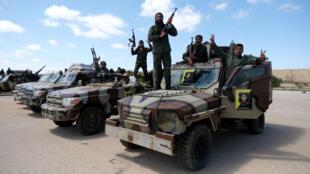 الجيش الوطني الليبي التابع للمشير خليفة حفتر. 7 أبريل/نيسان 2019.