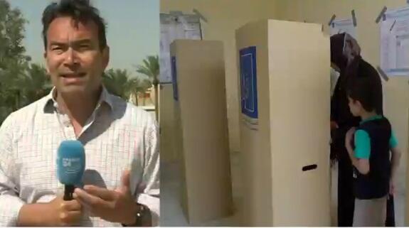 Cyril Payen, journaliste à France 24, à Bagdad, le 13 mai 2018.