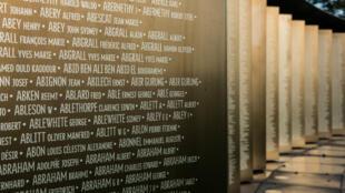 The list of names at the Notre-Dame-de-Lorette memorial
