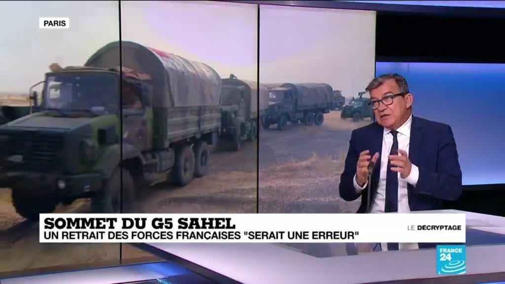 """2021-02-17 08:35 Sommet du G5 Sahel : un retrait des forces françaises """"serait une erreur"""""""