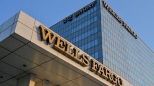 Las oficinas del banco estadounidense Wells Fargo en la ciudad india de Bangalore, en una imagen del 16 de abril de 2020