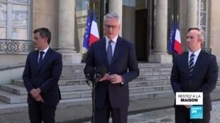 2020-04-24 13:06 L'accès au fonds de soutien élargi aux entreprises du secteur touristique, affirme Bruno Le Maire