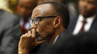 Le président rwandais Paul Kagame a deux candidats face à lui à l'élection présidentielle.
