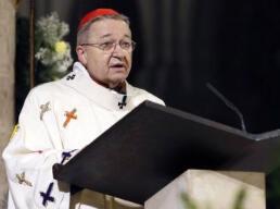 Le cardinal archevêque de Paris, Mgr André Vingt-Trois.
