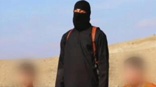 رهينتان هدد التنظيم بقتلهما كينجي غوتو (يسار) وهارونا يوكانا (لقطة من فيديو بثه تنظيم الدولة الإسلامية)