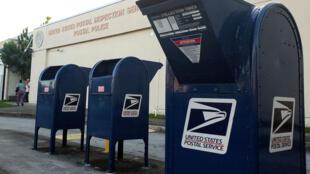 Un centro de inspección de correo de los Servicios Postales cerca del Aeropuerto Internacional de Miami, Florida, el  25 de octubre de 2018.