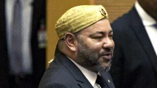 Le roi du Maroc, Mohammed VI, lors de la cérémonie de clôture de l'Union africaine.