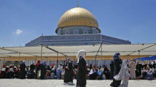 المسجد الأقصى، في القدس القديمة.
