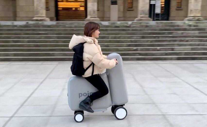 دراجة كهربائية قابلة للنفخ والطي يمكن حملها في حقيبة ظهر