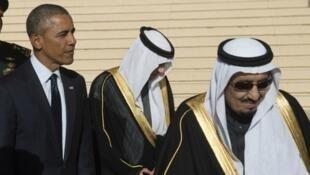 الملك سلمان بن عبد العزيز والرئيس الأمريكي باراك أوباما