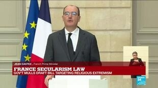 2020-12-09 13:24 REPLAY - Anti-extremism plan is 'law of freedom', says France PM Castex