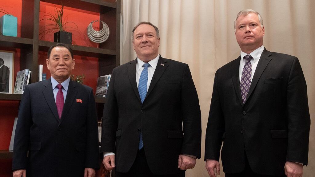 El jefe de los servicios de espionaje norcoreanos, Kim Yong-chol, se reunió a puerta cerrada con el secretario estadounidense de Estado, Mike Pompeo, y con el enviado especial de EE. UU. para Corea del Norte, Steve Biegun.