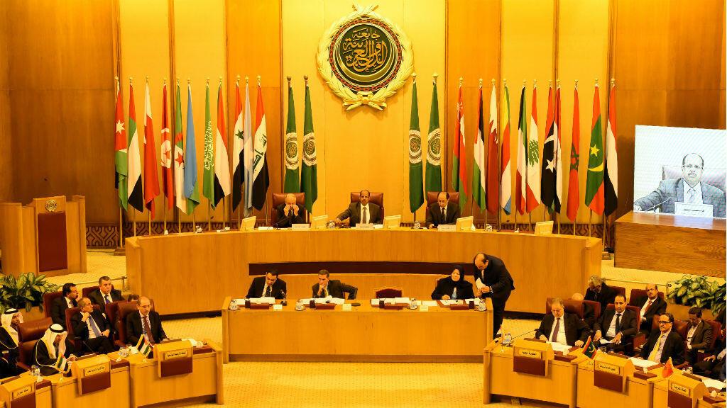 Le quartier général de la Ligue arabe lors d'une réunion d'urgence des ministres des Affaires étrangères, le 9 décembre 2017.