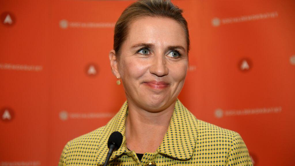 Tras conocerse los resultados, la líder socialdemócrata Mette Frederiksen pronunció un discurso en Copenhague, Dinamarca, el cinco de junio de 2019.