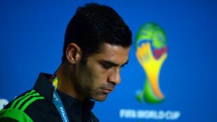 Fotografía de archivo mientras Rafael Márquez se disponía a dar una rueda de prensa durante el Mundial de Brasil 2014.