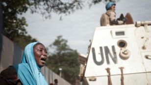 Le quartier du PK5 de Bangui, le 11 avril 2018, après des des affrontements ont opposé une patrouille de Casques bleus et de forces armées centrafricaines à des milices armées du PK5.