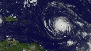 """صورة وزعها """"ناسا غوز بروجكت"""" تظهر الإعصار إيرما في 4 أيلول/سبتمبر 2017."""