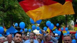 Un meeting du parti d'extrême droite Alternative pour l'Allemagne (AfD) à Koenigs Wusterhausen, en l'Allemagne, le 30 août 2019.