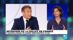 """2020-07-14 16:05 Interview du 14 juillet : Emmanuel Macron """"a fait de la pédagogie et de l'explication"""""""